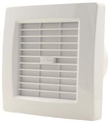 Badkamer ventilator met AUTOMATISCHE SLUITKLEP 120 mm WIT - luxe X120Z