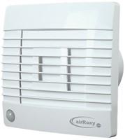 Badkamer ventilator met Automatische Sluitklep, Bewegingssensor en Timer 150 mm wit - Prestige 150ZGMS