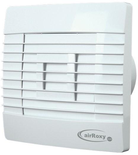 Badkamer ventilator met Automatische Sluitklep Vochtsensor en Timer 100 mm wit Prestige 100ZGHS