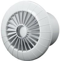 Badkamer ventilator rond diameter 100 mm wit met TIMER - 100BBTS-1