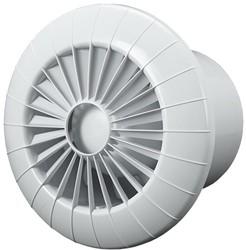 Badkamer ventilator rond diameter 100 mm wit met TIMER - 100BBTS