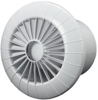 Badkamer ventilator rond diameter 100 mm wit met VOCHTSENSOR EN TIMER - 100BBHS-1