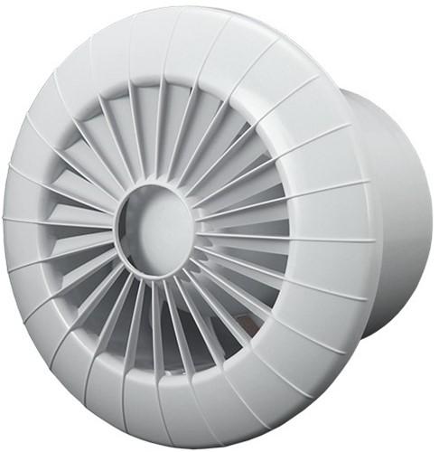 Witte Badkamermeubels ~ Badkamer ventilator rond diameter 100 mm wit met VOCHTSENSOR EN TIMER