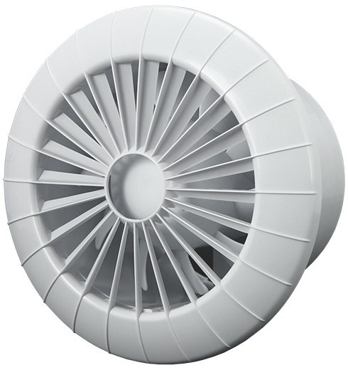 Badkamer ventilator rond diameter 120 mm wit 120BB
