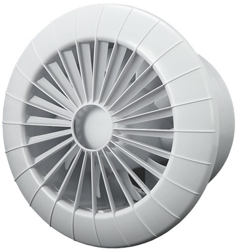 Badkamer ventilator rond diameter 120 mm wit - 120BB