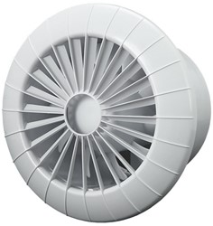 Badkamer ventilator rond diameter 120 mm wit met TIMER - 120BBTS