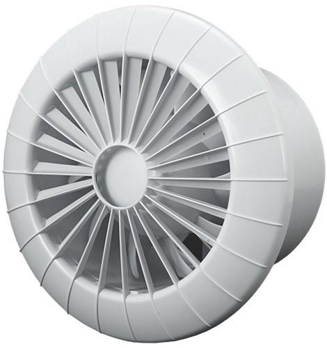 Badkamer ventilator rond diameter 120 mm wit met VOCHTSENSOR EN TIMER - 120BBHS