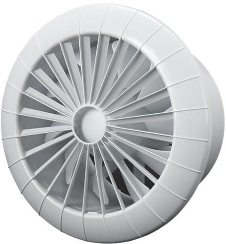 Badkamer ventilator rond diameter 150 mm wit met TIMER - 150BBTS
