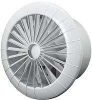 Badkamer ventilator rond diameter 150 mm wit met VOCHTSENSOR EN TIMER - 150BBHS-1