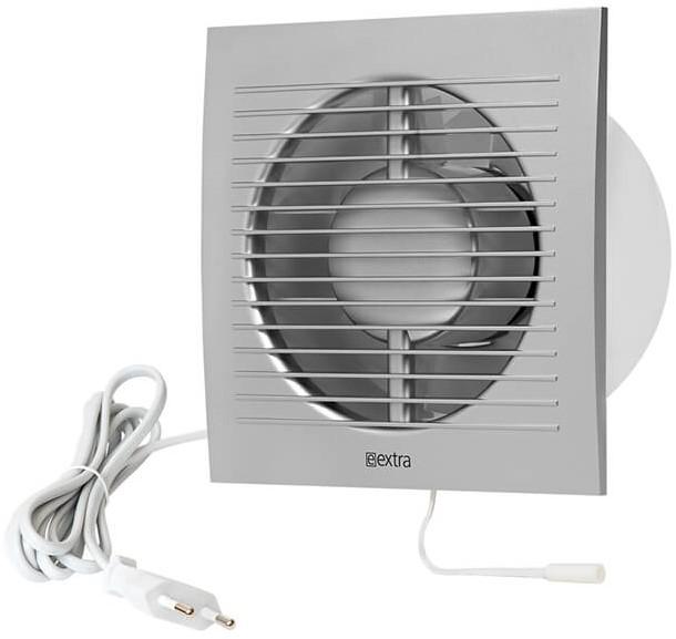 Badkamer Ventilator 150 Mm Zilver Met Trekkoord En Stekker Ee150wps