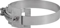Beugel diameter  500 mm M8 I316L