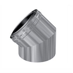 Concentrische rookgasafvoer 45 graden bocht PP-RVS Ø80 - 125mm