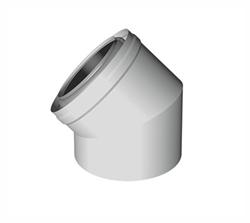 Concentrische rookgasafvoer bocht 45 graden PP-PP Ø60 - 100mm