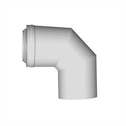 Concentrische rookgasafvoer bocht 90 graden PP-PP 60 - 100mm