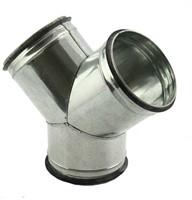 Broekstuk 45° diameter 100 mm - 100 mm tbv spiro buis-1
