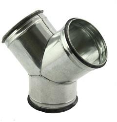 Broekstuk 45° diameter 125 mm - 100 mm tbv spiro buis