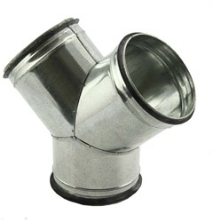 Broekstuk 45° diameter 125 mm - 125 mm tbv spiro buis