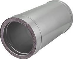 DW Ø 150 mm (150/250) buis L1000 I316L/I304 (D0,5/0,6)