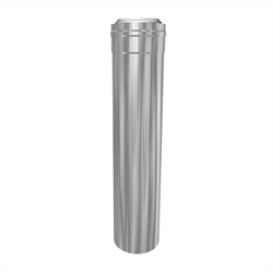 Concentrische rookgasafvoer buis PP-RVS L=250 Ø60 - 100mm