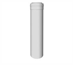 Concentrische rookgasafvoer buis PP-PP L=1000 Ø60 - 100mm