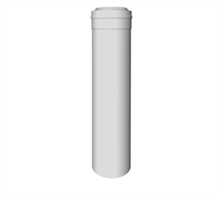 Concentrische rookgasafvoer buis PP-PP L=250 Ø60 - 100mm