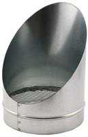 Buisrooster 45 graden met gaas diameter: 100 mm-1