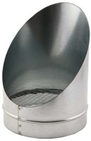 Buisrooster 45 graden met gaas diameter: 355 mm-1