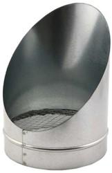 Buisrooster 45 graden met gaas diameter: 355 mm