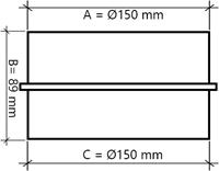 Buisventilator kunststof Ø150mm XK150-2