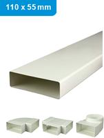 Ventilatiekanalen rechthoekig en hulpstukken 110x55