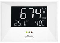 CO2 meter - air indicator inclusief temperatuur en vocht weergave-1