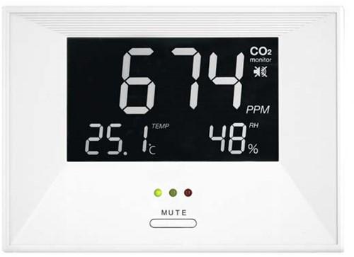 CO2 meter - air indicator inclusief temperatuur en vocht weergave