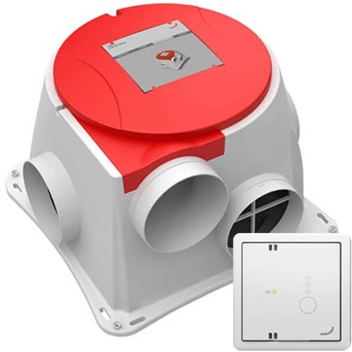 Zehnder Stork Comfofan CO2 ventilator + RF hoofdbediening met CO2 sensor