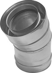 Concentrische diameter  100 - 150 mm bocht 30 gr I316L/I304 (D0,5/0,6)