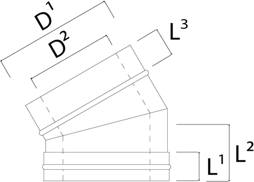 Concentrische diameter  80 - 125 mm bocht 30 gr I316L/I304 (D0,5/0,6)-2