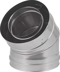 Concentrische Ø 80 - 125 mm bocht 45 gr I316L/I304 (D0,5/0,6)