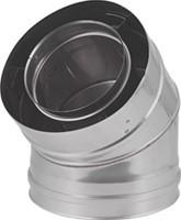 Concentrische diameter  130 - 200 mm bocht 45 gr I316L/I304 (D0,5/0,6)