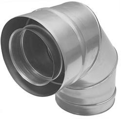 Concentrische diameter  100 - 150 mm bocht 90 gr I316L/I304 (D0,5/0,6)