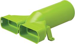Ubbink Ventieladapter 180° rond 125 mm naar 2 x plat ovaal 60x132