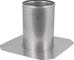 Dakdoorvoer Ø 600 mm plat dak INOX