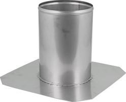 Dakdoorvoer Ø 130 mm plat dak INOX