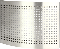 RVS ventilatie toevoer ventiel Ø 150 mm met geperforeerde kap voor wandmontage - DTQAY150Y