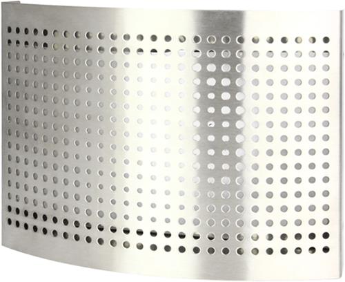 RVS ventilatie toevoer ventiel Ø 100 mm met geperforeerde kap voor wandmontage - DTQAY100Y (DTQAY100Y)