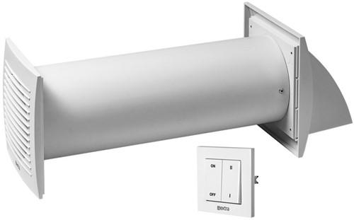 Decentrale WTW-unit Ø100 mm met schakelaar - EER100S