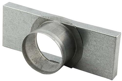 Deksel 165x80 met aansluiting Ø80mm tbv instortkanaal