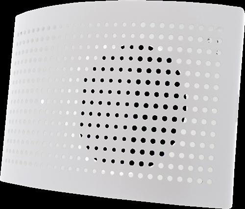 Ventilatie toevoer ventiel Ø 125mm met geperforeerde kap voor wandmontage WIT - DTQA125