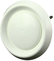 Ventilatie ventielen kunststof rond Ø125mm wit met klemveren (DAV125)