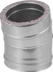 DW Ø 80 mm (80/180) bocht 15 gr I316L/I304 (D0,5/0,6)