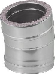 DW diameter  200 mm (200/250) bocht 15 gr I316L/I304 (D0,5/0,6)