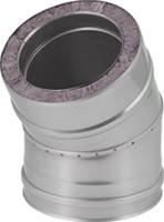 DW diameter  100 mm (100/150) bocht 30 gr I316L/I304 (D0,5/0,6)